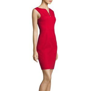 Elie Tahari Sleeveless Dress w/Goldtone Accents